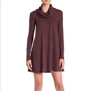 Maddie Rib Knit Cowl Shift Dress